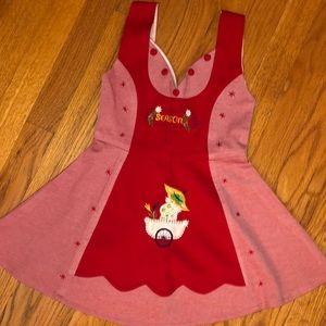VINTAGE EMBROIDERED CHRISTMAS APRON DRESS 3/4